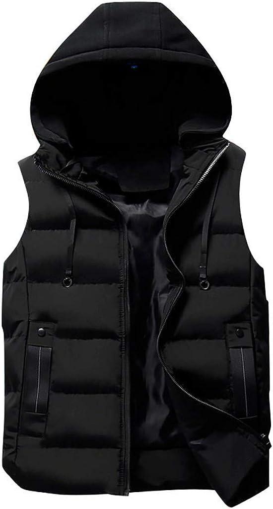 MODOQO Men's Outdoor Casual Padded Vest Coats Packable Travel Light Weight Down Coat