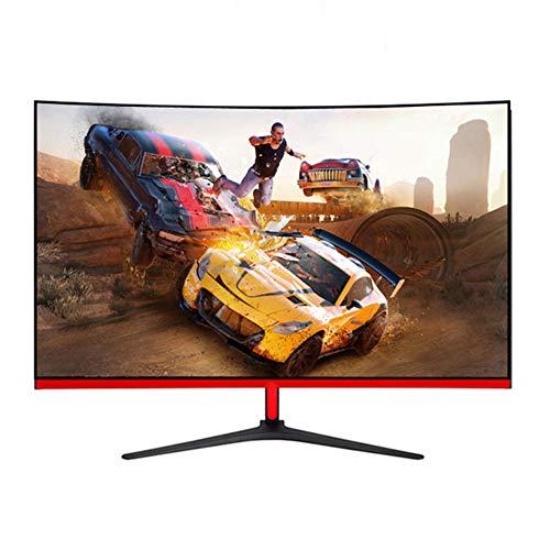 Red tide 32 Pulgadas 1080p 75Hz sin Bordes Curvo Monitor, Pantalla de Monitor de la computadora, Pantalla LCD de Alta definición, Usado para Juegos, oficinas, hogares, Estudiantes
