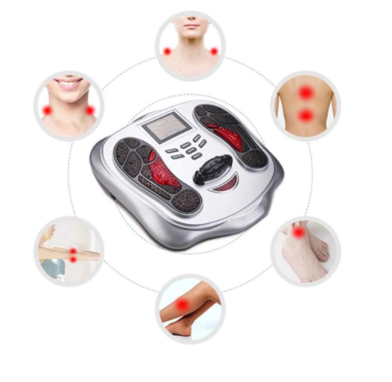 追放またねパノラマ遠赤外線鍼治療型フットマッサージ機フットマッサージャーフットトリートメントは、循環を高め、腫れや痛みを軽減するのに役立ちます。, Silver