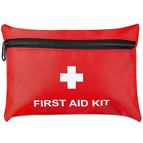 CYSJ 2 PCS Botiquín Médico Auxilios, Survival Tools Mini Box, Bolsa Médica Portátil,Impermeable Bolsa Médica, para el Coche,Hogar,Camping,Caza,Viajes,Aire Libre o Deportes (Rojo)
