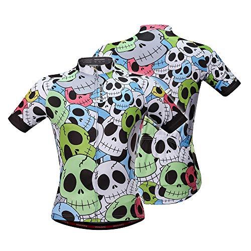 Lixada Herren Sommer Radtrikot Breathable Kurzarm Full Zip Bike Shirt MTB Fahrrad Reiten Jersey