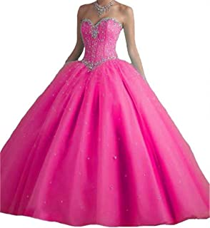 BanZhang Women's Quinceanera Dress Beaded W/ Jacket Long Prom Party Ball Gown