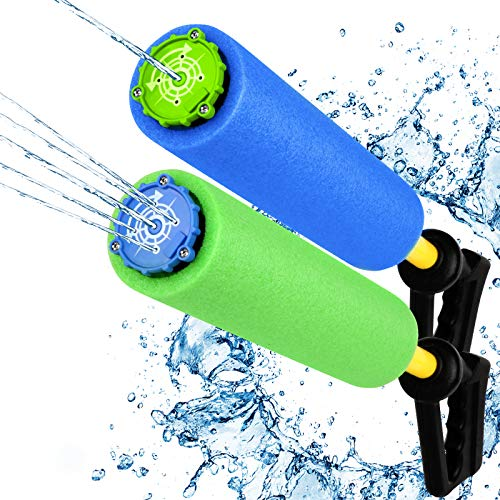 Water Blaster Soaker Gun, 2 Pack Squirt Water Toy for Children & Adults - Two Switchable Squirt Mode...