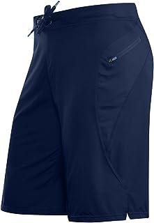 A+TTXH+L Men's Swim Trunks Running Shorts Men Sweatpants Gym Zipper Pocket Shorts Workout Mesh Quick-Drying Sports Men Sho...