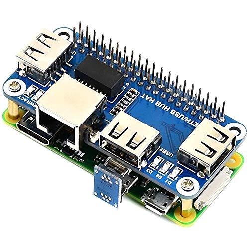 Camisin for Raspberry Pi 4 Expansion Board Ethernet/USB Hub HAT 5V, with 1 RJ45 10/100M Ethernet Port and 3 USB Ports