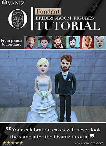 Wedding cake toppers | Bride and groom cake topper | wedding toppers : unique wedding cake toppers (How to sculpt fondant figures Book 1) (English Edition)