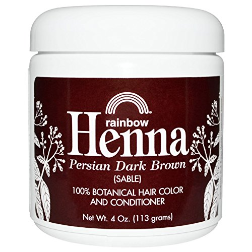 Rainbow Research, Henna, 100% Botanical Hair Color and Conditioner, Persian Dark Brown (Sable), 4 oz (113 g) - 2pc