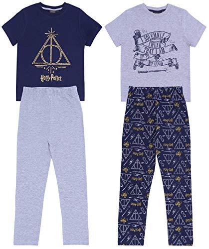 2 x Pijama Gris y Azul Marino Harry Potter