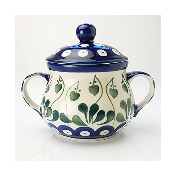 Polish Pottery Sugar Bowl – Love Leaf