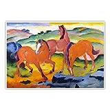 CanvasArts Weidende Pferde IV - Die roten Pferde - Franz