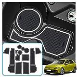 RUIYA para Golf 8 MK8 GTI GTD GTE 2020+ Alfombrillas de goma antideslizantes Soporte para bebidas Alfombrillas para ranuras de puerta Accesorios para coche, 10 piezas (Blanco)