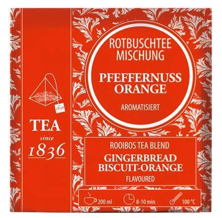 Rotbuschteemischung Pfeffernuss-Orange aromatisiert 50 Pyramidenbeutel im Sachet à 3,5 g