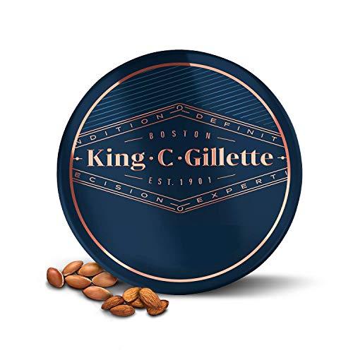 King C. Gillette Baume Barbe Homme, Douce Infusé Au Beurre De Cacao Nutritif, À L'Huile D'Argan Et Au Beurre De Karité, 100 ml