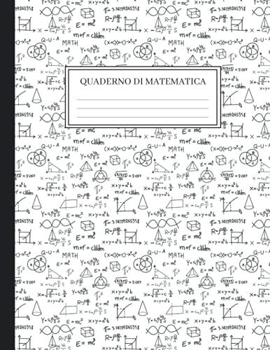 Quaderno di Matematica: Carta Millimetrata da 1/2 Pollice