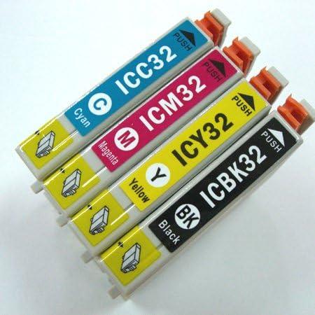 EPSON(エプソン)用互換インク IC4CL32 IC32系4色セット