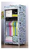LJWLZFVT Armario de Tela Armario Armario Plegable Closet portátil Guardarropa Plegable Ropa Organizador Closet para Ropa, vestidor, Dormitorio(Size:70X45X150CM,Color:lscx)