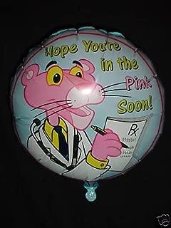 Wbt 18 Inch Get Well Pink Panther Foil Balloon- Bl138
