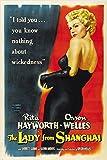 1947die Lady von Shanghai Film Poster Rita Hayworth Orson