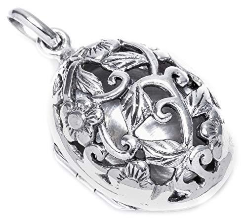 Mittelalter Schmuck Anhänger Raina 3.1 cm Elfen Medaillon mit Fach 925 Sterlingsilber