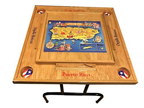 Domino Table With Puerto Rico Map