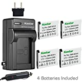 Kastar Battery (4-Pack) and Charger Kit for Panasonic DMW-BCN10, DMW-BCN10E, DMW-BCN10PP Work for Panasonic Lumix DMC-LF1, Lumix DMC-LF1K, Lumix DMC-LF1W Digital Cameras