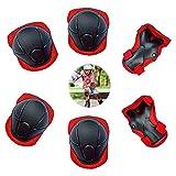 Set de Protección De Muñeca Equipo de Protección 6 En 1 Rodilleras...
