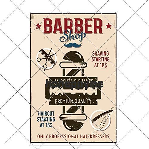 Ubranded Barber Metal Sign Vintage Barbershop Poster Cafe Bar Pub Wall Decorative Retro Plates Home Decor 288
