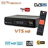 GT MEDIA Freesat V7S FTA Satellite TV Receiver HD DVB-S/S2 SAT Finder TV Decoder, Supports PowerVu, DRE & Biss Key, YouTube, Newcam Set Top Converter Box