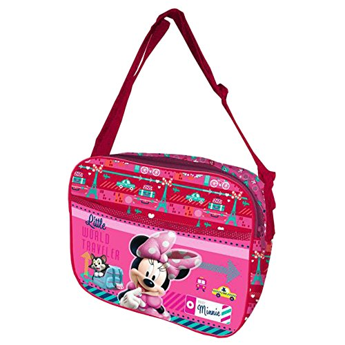 Minnie Mouse Licencia Disney - Bolso Bandolera, 25 cm, Multicolor