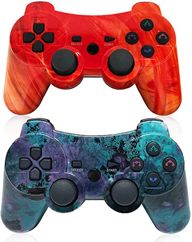 Wireless Controller for Playstation 3,PS3 Gamepad Six-axis Gaming Joysticks, up to 10m Remote Control, Support Windows PC with Charging Cable Connect