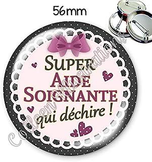 Badge 56mm Super filleule id/ée cadeau anniversaire no/ël coll/ègue amie famille