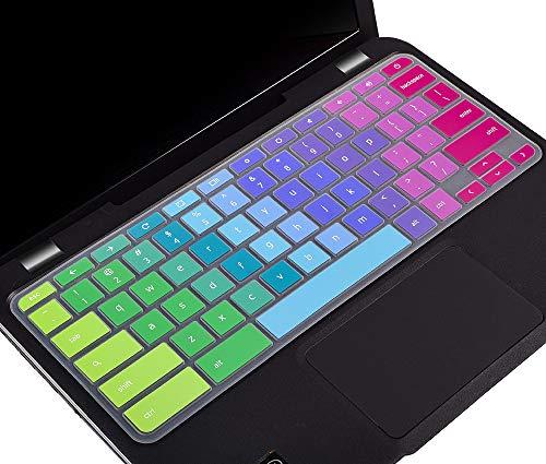 """Keyboard Cover for 2018-2020 Lenovo Chromebook C330 11.6"""", Lenovo Flex 11 Chromebook 11.6, Lenovo Chromebook N20 N21 N22 N23 100e 300e 500e 11.6"""", Lenovo Chromebook Flex 3 11.6 Keyboard Skin, Rainbow"""
