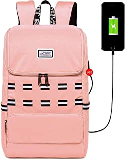 Girl Backpack College Street Leisure Student Backpack Traveling Backpack Travel Toiletry Bag Garment Bags for Travel ; (Color : Pink, Size : Free Size)