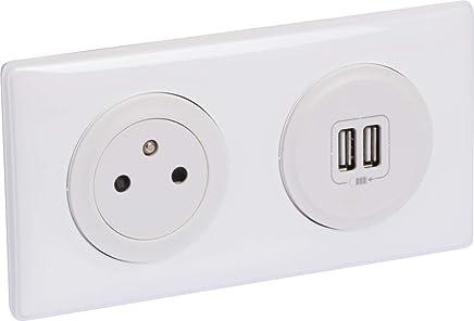 module de charge 2 USB TypeA dooxie 2,4A pr/éc/âbl/és finition noir Orange Legrand LEG300409 KIT2P+T//2XUSB PREC NR Kit prise de courant Surface