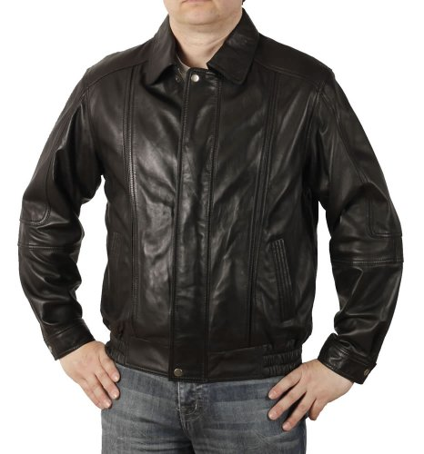 Simons Leather Blouson Style Classique Homme en Cuir - Taille 2XL