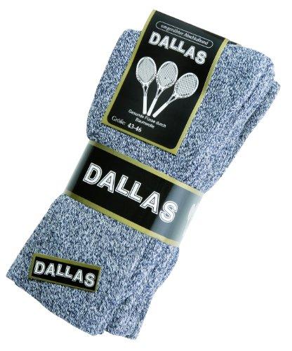 Dallas 4 Paar Damen & herren Sport & Outdoor Socken Gr. 35-38, 39-42, 43-46, 47-50 (43-46, Grau)