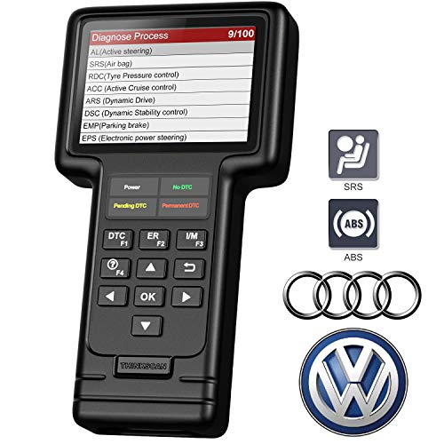 thinkcar VAG Scanner, All System OBD2 Scanner for Audi VW Volkswagen SEAT Skoda with 5 Service Reset, Diagnostic Tool Check Engine Light, SRS ABS Scan Tool with Oil Service and Brake Pad Reset Tool