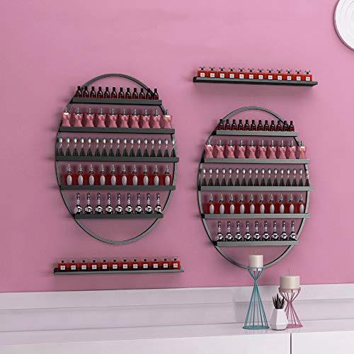 LJ Soporte de estante de esmalte de uñas de pared de metal / Organizador de metal Organizador de aceites esenciales para el salón en el hogar Estantes de exhibición de arte de pared de spa de negoci
