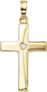 Anhänger Kreuz XL groß echt Gold 333 55 mm Gelbgold 8 karat juwelierqualität Neu