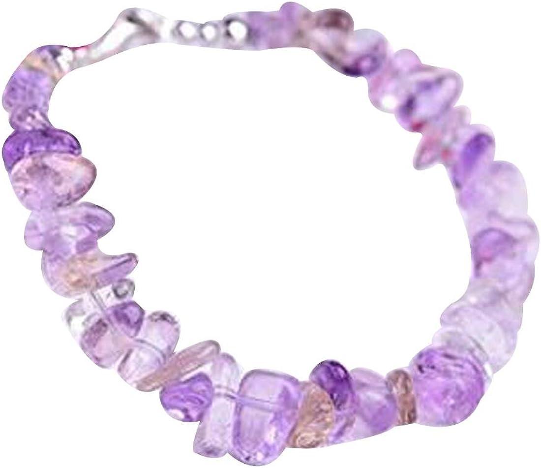 Charmed Amethyst Stonechip Gemstone Bracelet