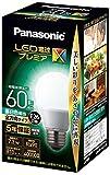 パナソニック LED電球 口金直径26mm プレミアX 電球60形相当 昼白色相当(7.3W) 一般電球 全方向タイプ 密閉器具対応 LDA7NDGSZ6AN