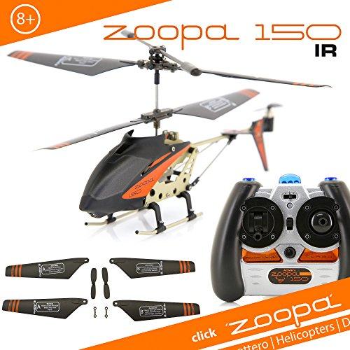 ACME - zoopa 150 Helikopter | Zoopa 150 IR | Gyro 2.0  |Turbo| Alluminiumrahmen | Spaß für Groß und Klein| (AA0150)
