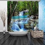 Beddinginn 3d Vivid Waterfall Pattern Shower Curtain by Beddinginn