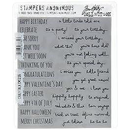 Tim Holtz Cling Stamps 7″X8.5″, Crazy Talk