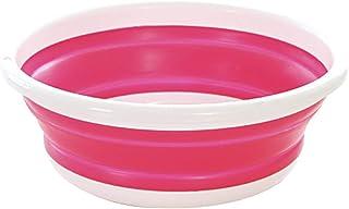 (FUPUONE) たためる 洗い桶 シリコン プラスチック製 大中小サイズ (中, レッド)