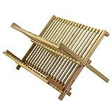 TB Home Folding Bamboo Dish Drying Rack