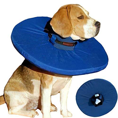 Tepaw Premium Halskrause für Hunde (Gr. 4) Made in EU | Kragen geeignet als Leckschutz und Schutzkragen | Patentierter Komfort und Schutz nach Operationen und Verletzungen | Halskragen aus Stoff