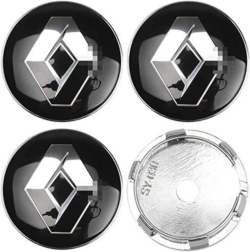 MixFactory 4pcs Auto Wheel Hub Center Caps Cubiertas 57 / 60mm para Renault Duster Logan Clio Scenic Laguna Megane Reemplazo Insignia Emblema Cubiertas Decorativas Embellecedores de Ruedas