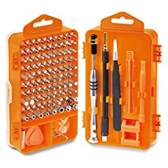 【Quality Material Guarantee】Chrome-vanadium screwdriver bit, hardness 55-60HRC. The screwdriver head is magnetic, with good quality assurance and excellent operability. 【Meet Daily Requirements】110 in 1 Precision screwdriver set, widely used in the m...