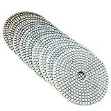 MJJEsports 5 Pulgadas 50-6000 Grit Diamond Pulimento Seco Disco De Lijado Húmedo Para Vidrio De Granito De Mármol De Hormigón - 6000